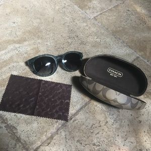 Teal coach sunglasses NWOT